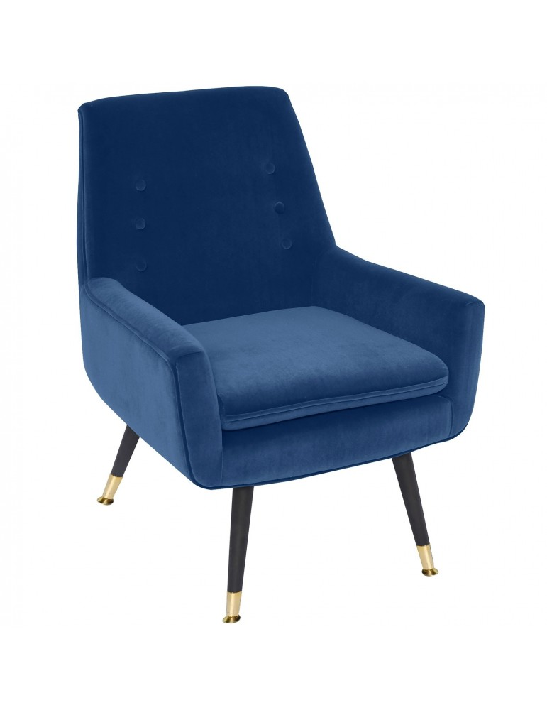 Fauteuil Ava Velours Bleu lsr15149bluevelvet
