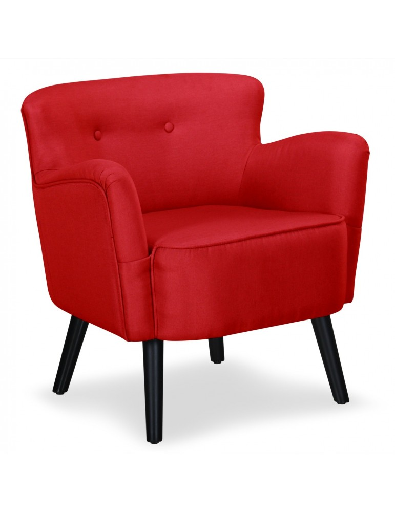 fauteuil scandinave anna rouge sf00106712red. Black Bedroom Furniture Sets. Home Design Ideas