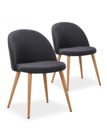 Lot de 2 chaises scandinaves Maury Gris Foncé dc5106lot2darkgreyfabric