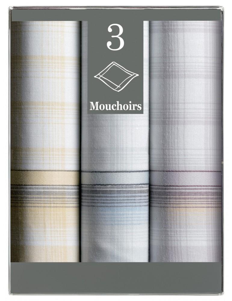 Boîte de 3 mouchoirs Diffusion homme Georges 40 x 40 6851090703Winkler