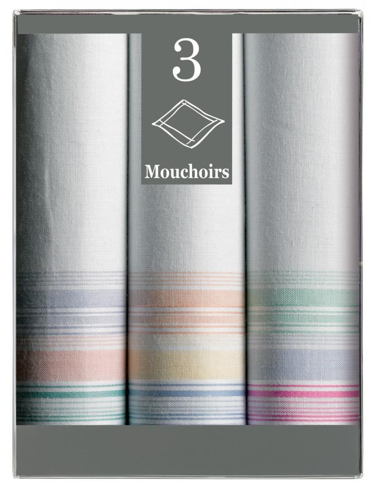 Boîte de 3 mouchoirs Diffusion femme Irène 29 x 29 6912090703Winkler