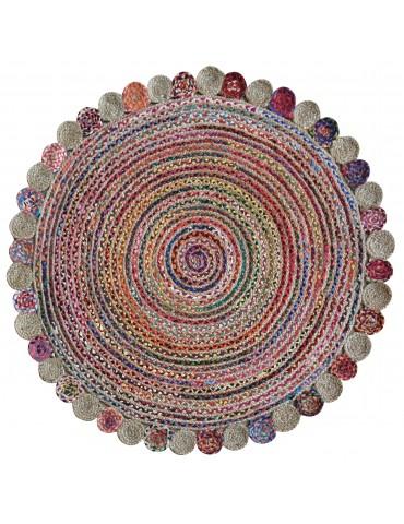 Tapis Accra Multicolore diamètre 90 4714090000The Rug Republic
