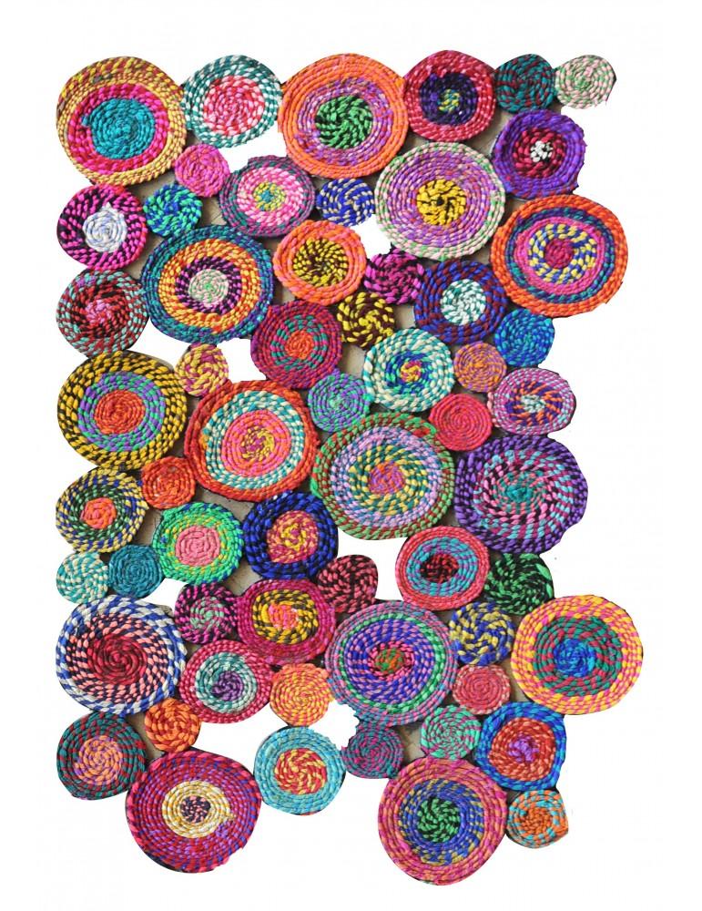 Tapis Bilbao Multicolore 60 x 90 4720090000The Rug Republic