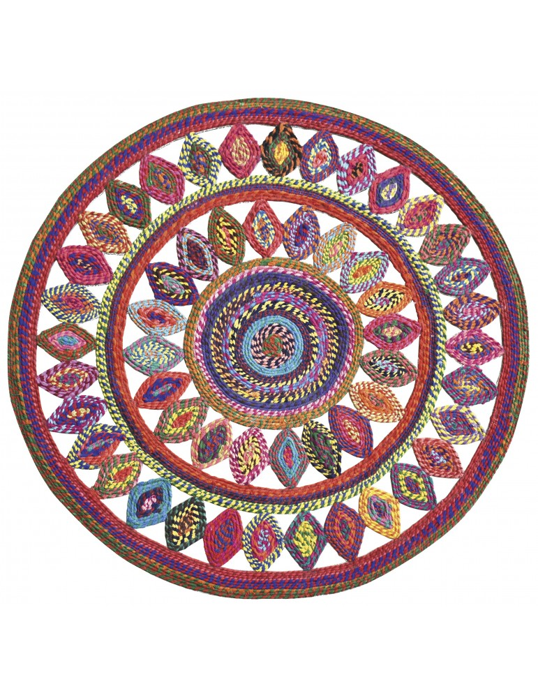 Tapis Bowey Multicolore diamètre 90 4638090000The Rug Republic