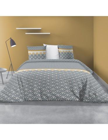 Parure de lit 2 personne avec housse de couette et 2 taies d'oreiller Balta Safran 240 x 260 6271044503Les Ateliers du Linge