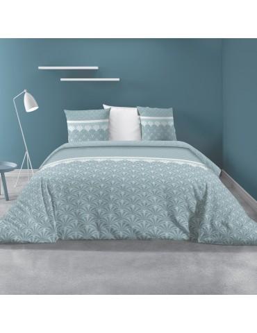 Parure de lit 2 personnes avec housse de couette et 2 taies d'oreiller Balta Glacier 240 x 260 6271062503Les Ateliers du Linge