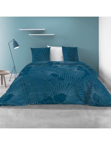 Parure de lit 2 personnes avec housse de couette et 2 taies d'oreiller Bayou Imprimé 260 x 240 5520000503Les Ateliers du Linge