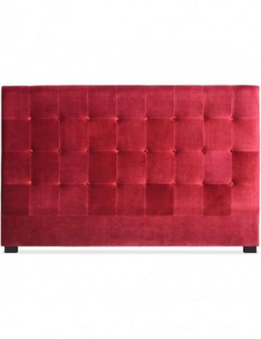 Tête de lit Luxor 180cm Velours Rouge lf155h180vrouge