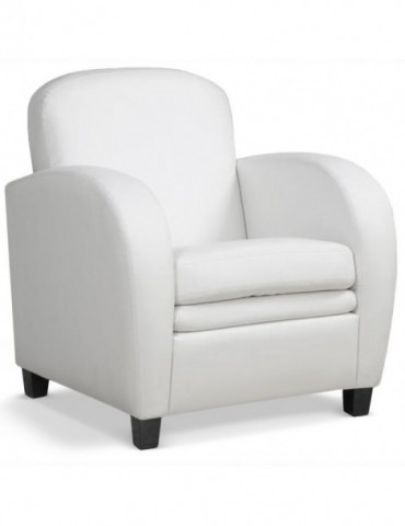 fauteuil club dameo blanc jf597blanc. Black Bedroom Furniture Sets. Home Design Ideas