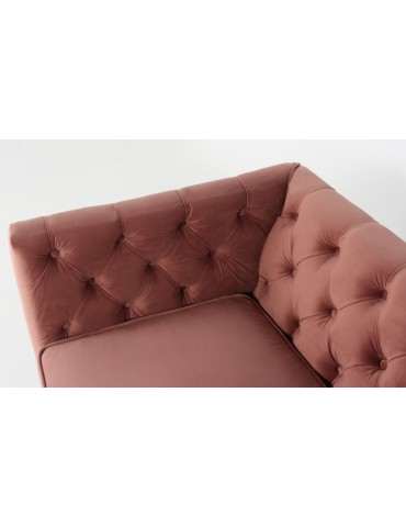 Fauteuil Sacha Velours Rose lf33751pink