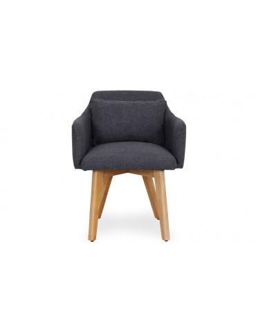 Chaise / Fauteuil scandinave Gybson Tissu Gris foncé lf5030darkgreyfabric