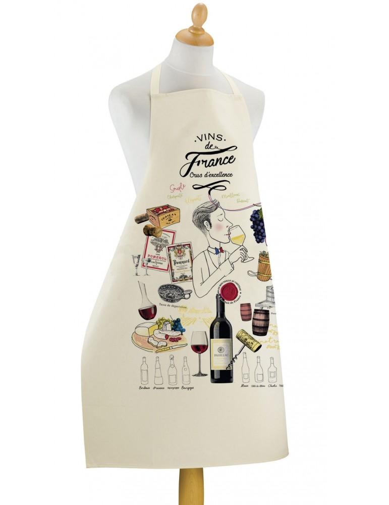 Grand Tablier de cuisine Crus d'excellence Ecru 72 x 96 2456011000Winkler