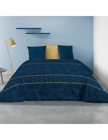 Parure de lit 2 personnes avec housse de couette et 2 taies d'oreiller Palace Imprimé 240 x 220 5442000503Les Ateliers du Linge