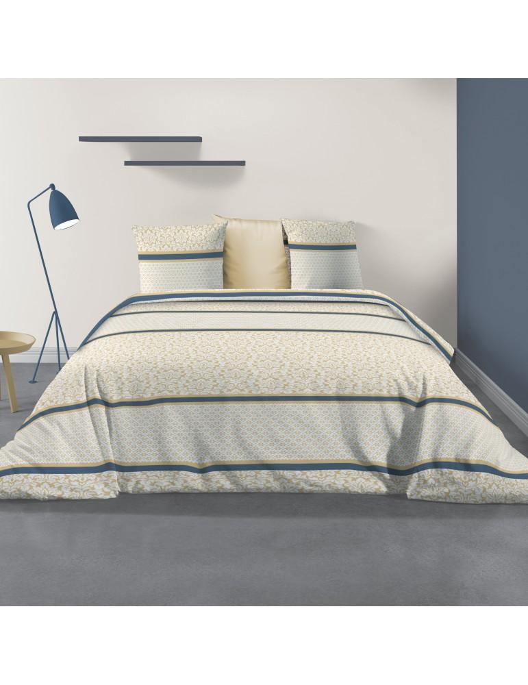 Parure de lit 2 personnes avec housse de couette et 2 taies d'oreiller Laika Imprimé 240 x 220 5533000503Les Ateliers du Linge