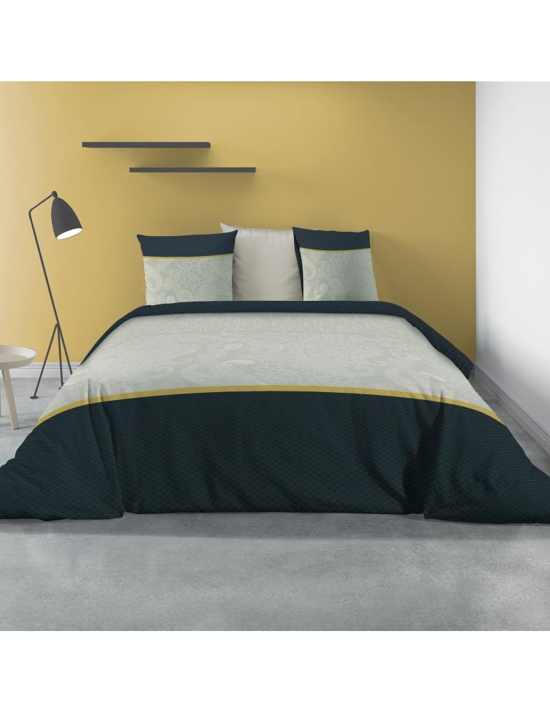 Parure de lit 2 personnes avec housse de couette et 2 taies d'oreiller Constance Imprimé 240 x 220 5558000503Les Ateliers du ...