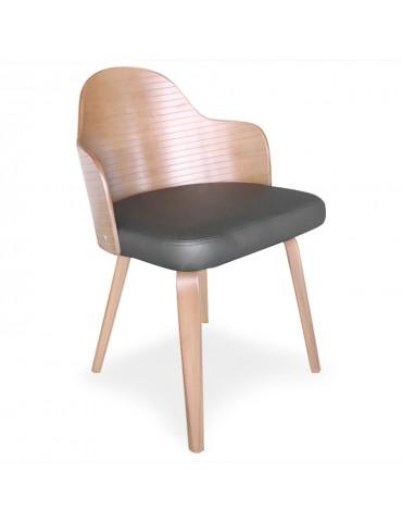 Lot de 2 chaises scandinaves Falbala Vintage et Gris xgf407a3vintgrey