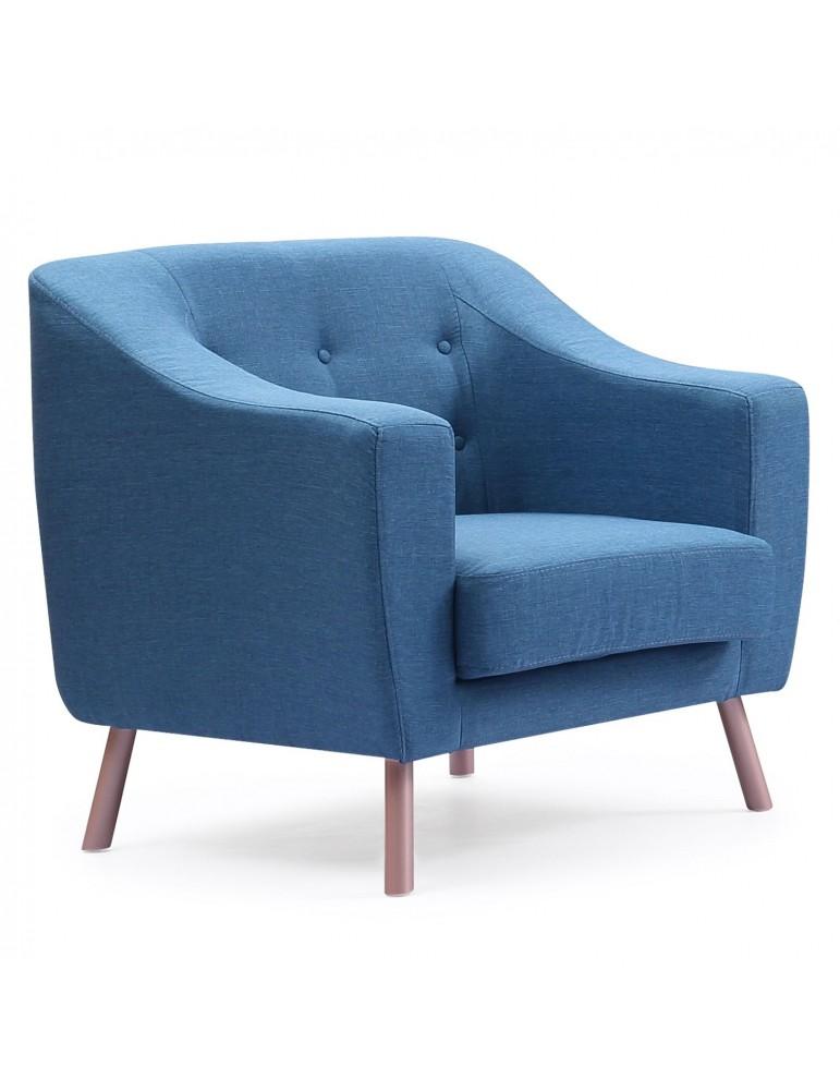 Fauteuil Sanson Tissu Bleu 11061k1125bleu