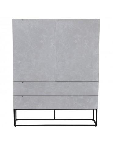 Buffet haut Logam 2 portes et 2 tiroirs Marbre ks3217marble