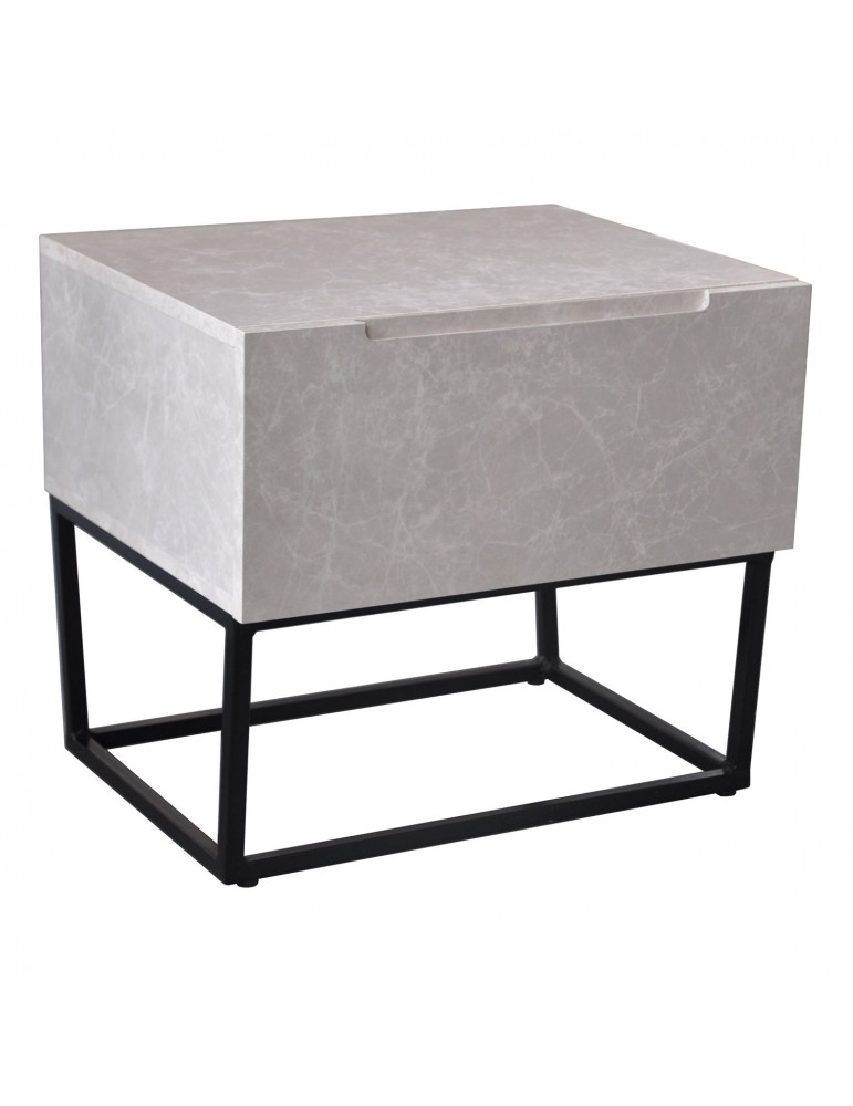 Table de chevet Logam 1 tiroir Marbre ks3212marble