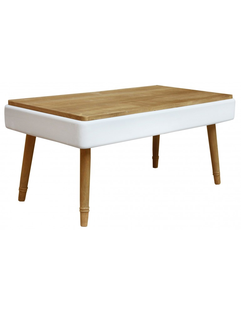 Table basse Hansel scandinave Blanc 18ay014