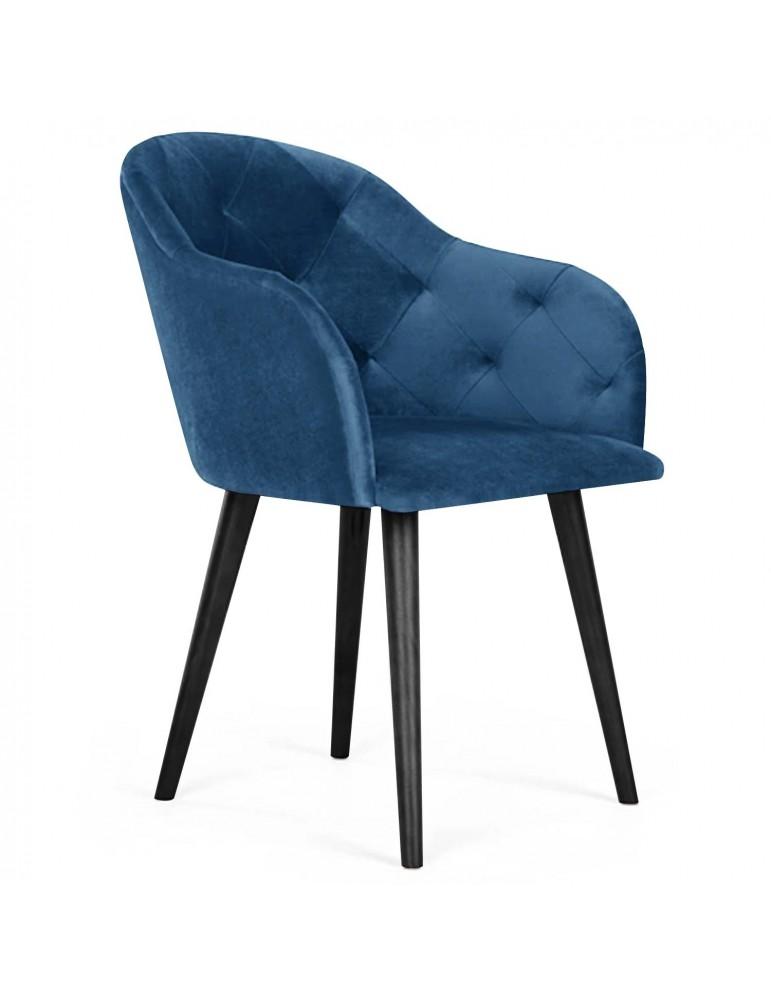Chaise / Fauteuil Honorine Velours Bleu lsr19119velvetblue