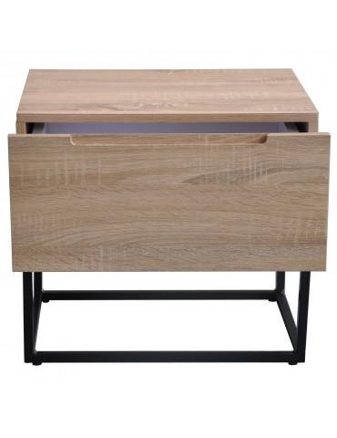 Table de chevet Logam 1 tiroir Chêne clair ks3212sonomaoak