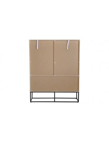 Buffet haut Logam 2 portes et 2 tiroirs Chêne clair ks3217sonomaoak