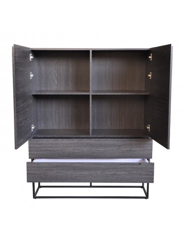 Buffet haut Logam 2 portes et 2 tiroirs Vintage ks3217vintage