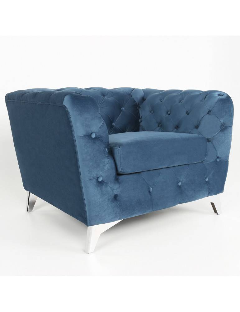 Fauteuil Cantaro Velours Bleu lf33831sbluevelvet