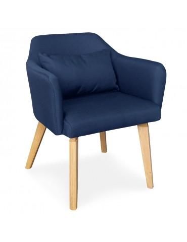 Chaise / Fauteuil scandinave Shaggy Tissu Bleu lsr19117bluefabric