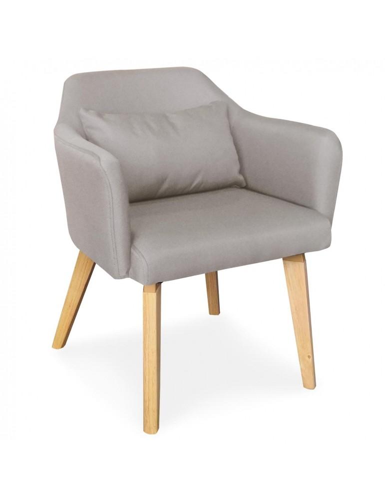 Chaise / Fauteuil scandinave Shaggy Tissu Beige lsr19117beigefabric