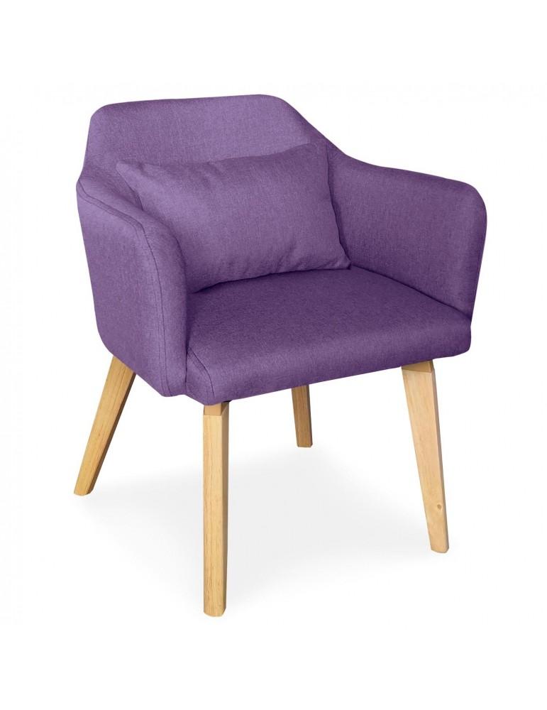 Chaise / Fauteuil scandinave Shaggy Tissu Violet lsr19117purplefabric