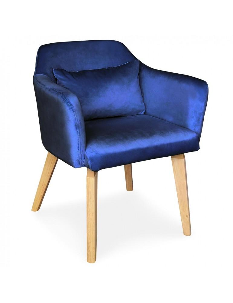 Chaise / Fauteuil scandinave Shaggy Velours Bleu lsr19117bluevelvet