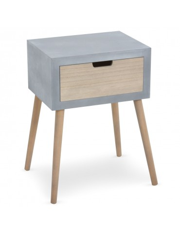 Table de chevet scandinave Tatum Gris 1531045