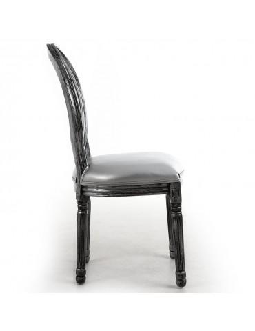 Lot de 2 chaises Louis XVI Glass Argent 24501acrsilver