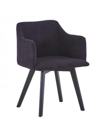 Chaise style scandinave Candy Velours Noir lsr15106blackvelvet