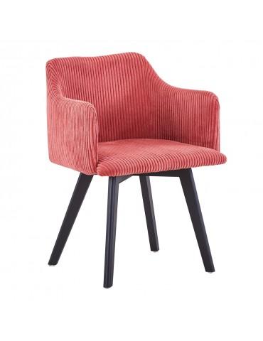 Chaise style scandinave Candy Velours Rose lsr15106pinkvelvet