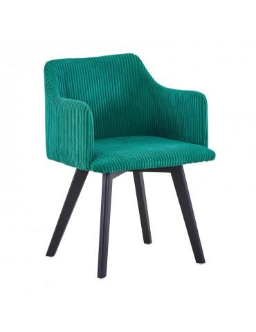 Chaise style scandinave Candy Velours Vert lsr15106greenvelvet
