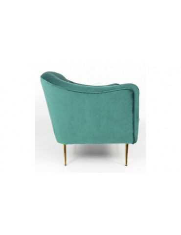 Canapé 2 Places Dalida Velours Vert Pied Or lf33682green