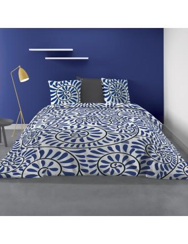 Parure de lit 2 personnes Bohème avec housse de couette et taies d'oreiller Imprimé 240 X 220 7173000503Les Ateliers du Linge