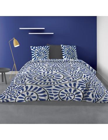 Parure de lit 2 personnes Bohème avec housse de couette et taies d'oreiller Imprimé 260 X 240 7176000503Les Ateliers du Linge