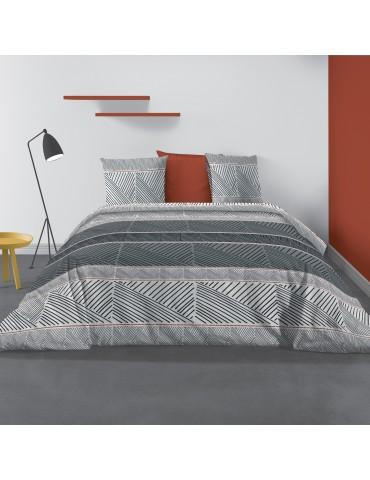 Parure de lit 2 personnes Casbaloz avec housse de couette et taies d'oreiller Imprimé 260 X 240 7181000503Les Ateliers du Linge