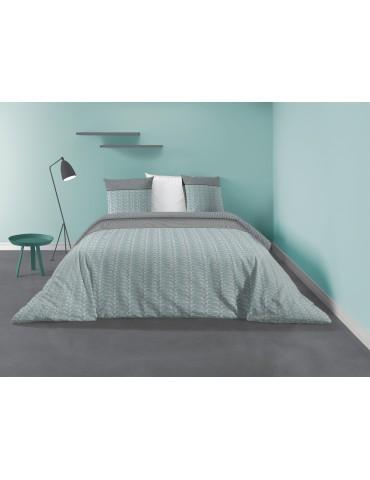 Parure de lit 2 personnes Ginka avec housse de couette et taies d'oreiller Imprimé 260 X 240 7200000503Les Ateliers du Linge