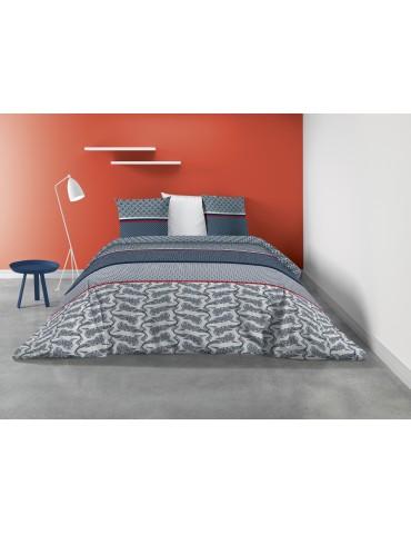 Parure de lit 2 personnes Koy avec housse de couette et taies d'oreiller Imprimé 240 X 220 7235000503Les Ateliers du Linge