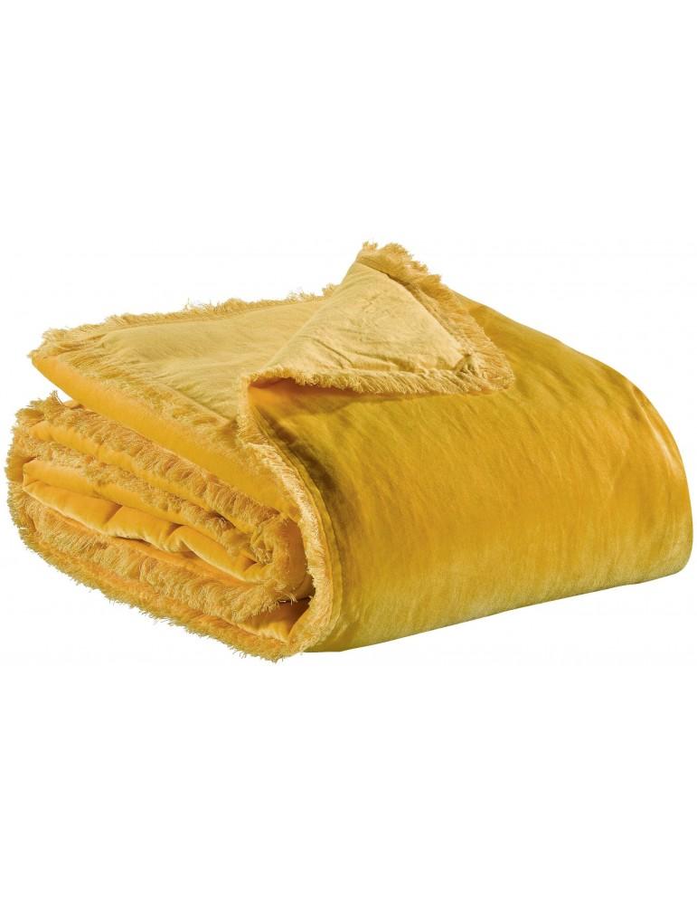 Plaid uni Fara Curry 135 x 200 5745040000Vivaraise