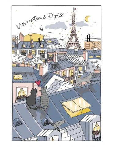 Torchon Toits de Paris Ecru 48 x 72 5246010000Winkler