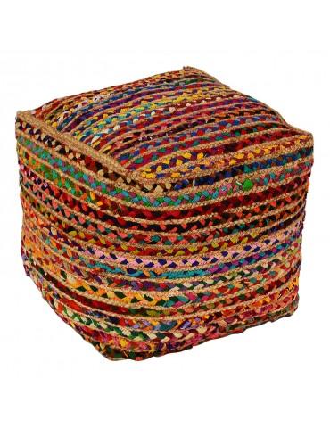 Pouf Kiliman Tissu Multicolore shy01
