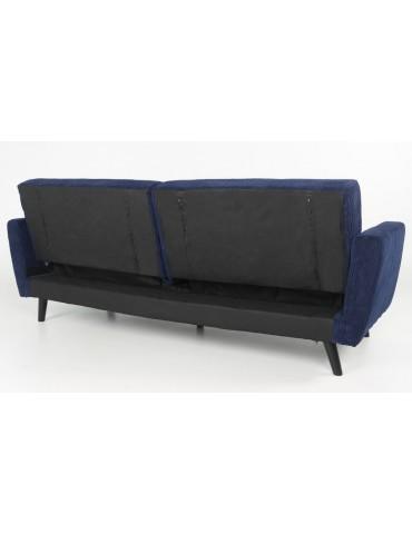 Canapé convertible Refresha Velours Bleu lf3332bluevelvet47
