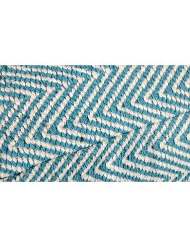 Pouf Patras Tissu Bleu shy08