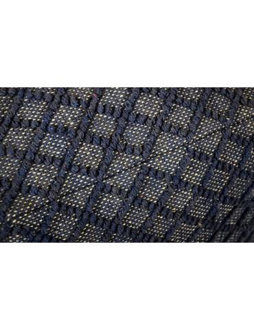 Pouf Bruges Tissu Bleu shy09blue